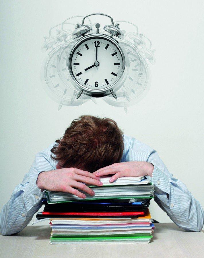 Employee sleeping