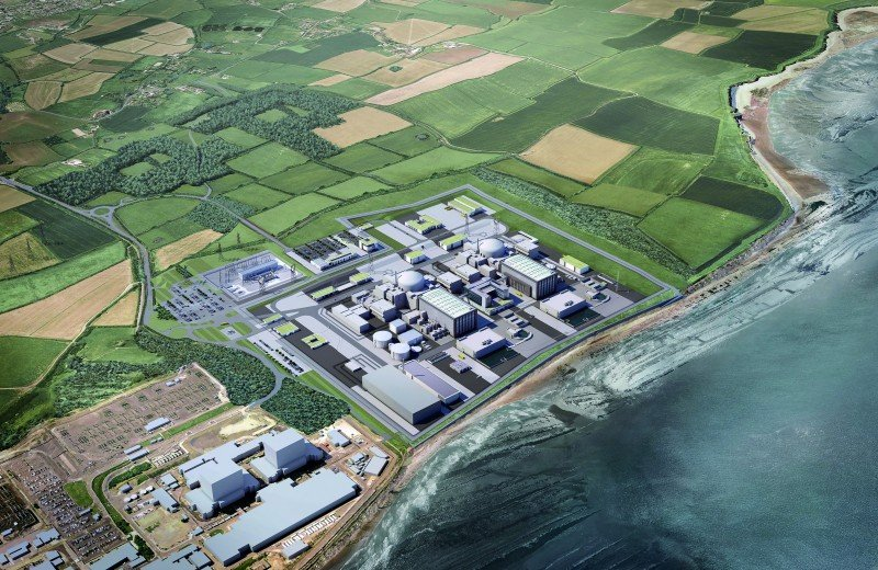 Hinkley Point C - aerial view