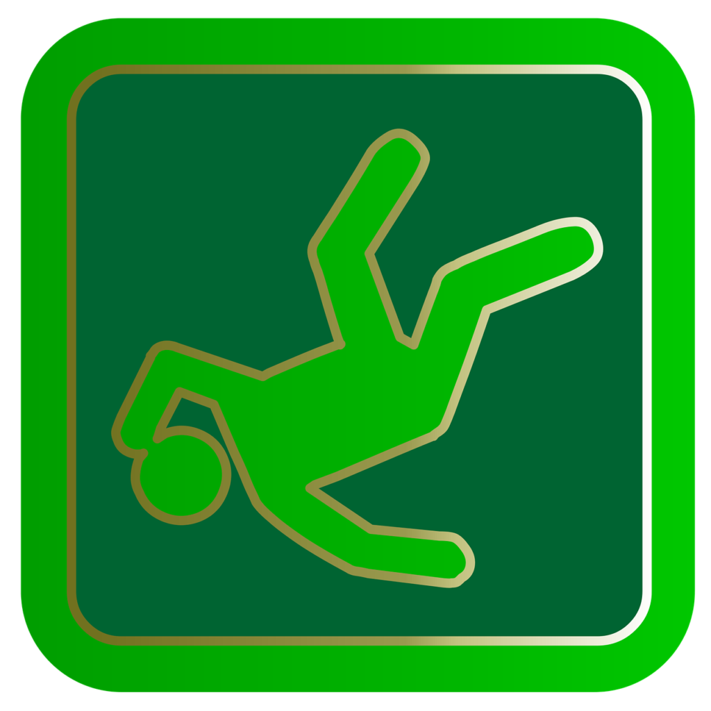 Workplace accident icon