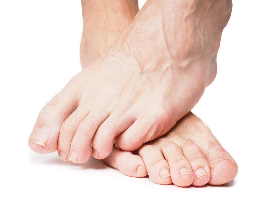 male feet