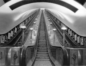 london underground escallator