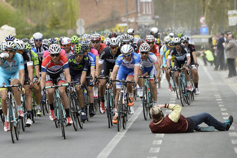 Spectator safety in cycling