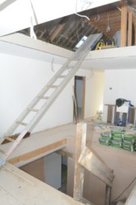 Contractor seriously injured after loft fall