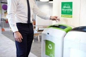 workplace recycling bins