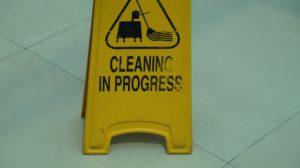 Cleaning in progress