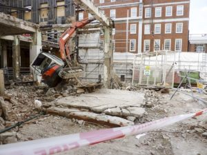 Untrained worker killed during demolition work