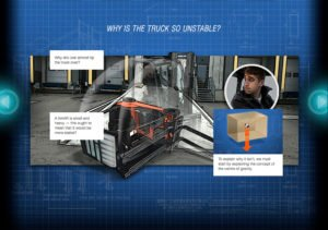 E-Truck on Screen