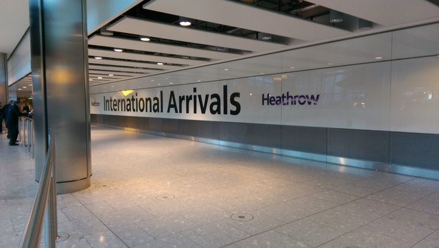 Heathrow arrivals