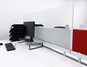 Coronavirus office screens