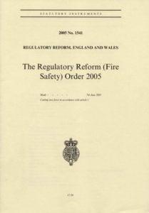 Regulatory Reform Order (Fire Safety)