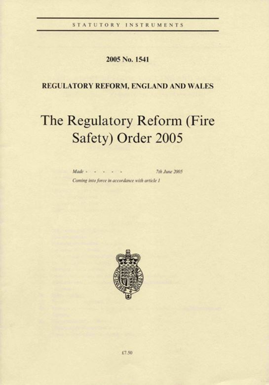 Regulatory Reform Order (Fire Safety)