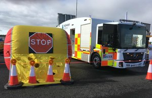 Highways England airs plan to protect workers with new inflatable barrier