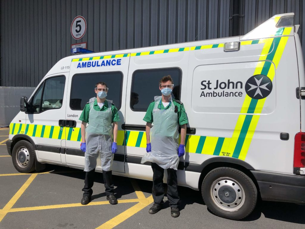 St John Ambulance volunteers support the NHS during pandemic