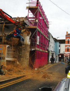 construction company fined after dangerous demolition
